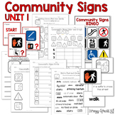 Community Signs Games and Worksheets - Unit 1 - for Specia