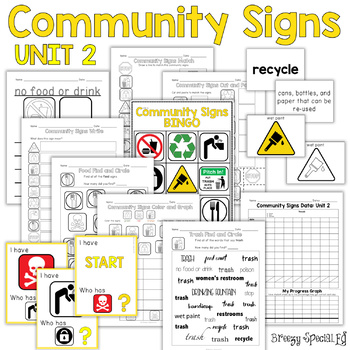 Community Signs Worksheets Teaching Resources Teachers Pay Teachers
