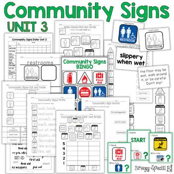 Community Signs Worksheets | Teachers Pay Teachers