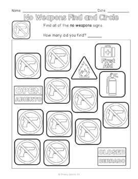 Community Signs Games and Worksheets - Unit 4 - for Special Education
