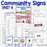 Community Signs Games and Worksheets - Unit 4 - for Specia