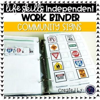 Community Signs ONLY Work Tasks or File Folders