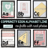 Community Signs Safety Signs Alphabet Line - real photos!