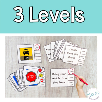Community Signs Skill Pack Leveled for Special Education (Autism Resource)