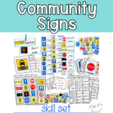Community Signs Skill Pack Leveled for Special Education -