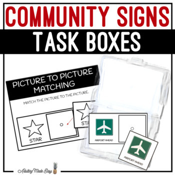 Community Signs Task Boxes - Picture to Picture Matching