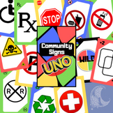 Community Signs UNO Card Game - Distance Learning