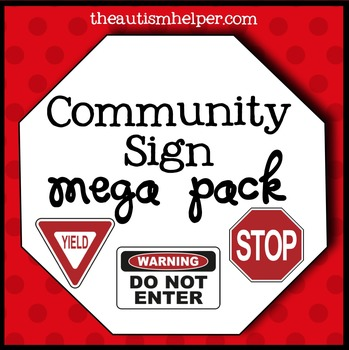 Community Signs Mega Pack for Special Education