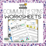 Community Signs Worksheets {Reading in Real Life}