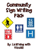 #spedprepsummer2 Community Signs Writing Pack