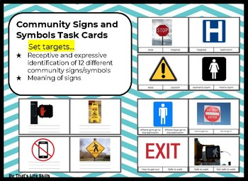 Community Signs and Symbols Task Cards