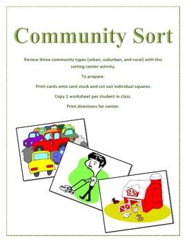 Community Sort Center Activity