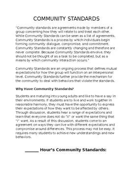 Back to School Community Standards