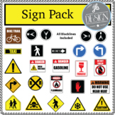 Community Street Signs 1 (JB Design Clip Art for Personal