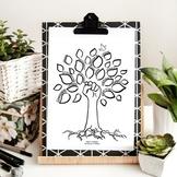 Community Strength Tree Art Worksheet