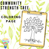 Community Strength Tree Coloring Page, Social Emotional Le