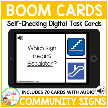Community & Survival Signs Digital Task Cards: BOOM CARDS