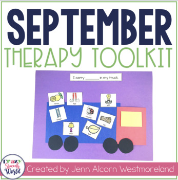 SEPTEMBER Lesson Plans for Speech and Language Therapy