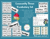 Community Theme Vocabulary Set {160 terms}