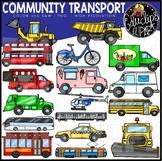 Community Transport Clip Art Set {Educlips Clipart}