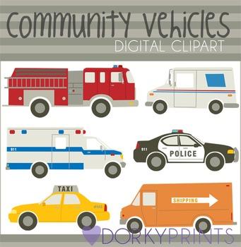 Community Vehicles Digital Clip Art