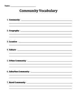 Community Vocabulary