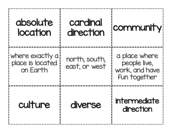 Community Vocabulary Cards