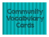 Community Vocabulary Cards