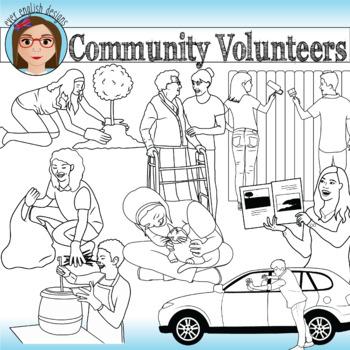 Community Volunteers- Teen Clip Art