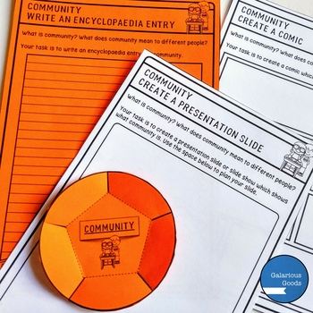Community - What is Community? - Activities and Task Cards