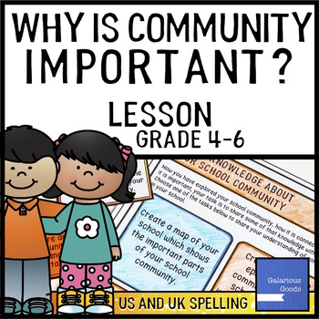 Community - Why is Community Important - Lesson Activities