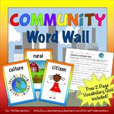 Community Vocabulary Word Wall