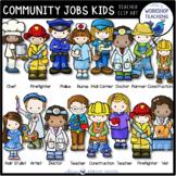 Community Worker Kids Clip Art Set (42 graphics)