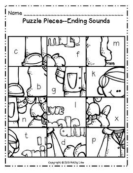 Community Worker Picture Puzzle -- Ending Sounds