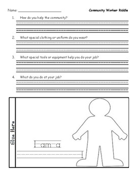 Community Worker Printable Riddle Activity