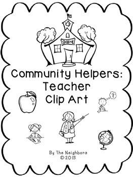 Community Worker Teacher Clip Art
