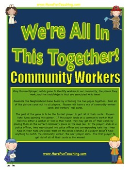 Community Workers Activity