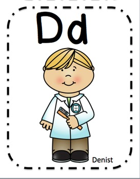Community Workers Alphabet Cards