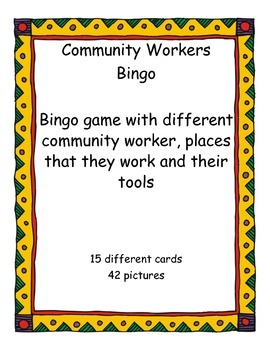 Community Workers Bingo