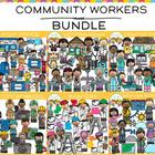 Community Workers Clip Art GROWING Bundle