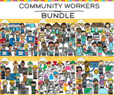 Community Workers Clip Art Bundle