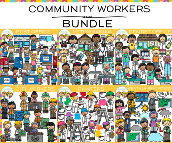 Community Workers Clip Art Bundle {Community Helpers Clip Art}