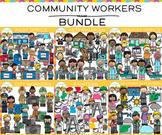 Community Workers Clip Art Bundle