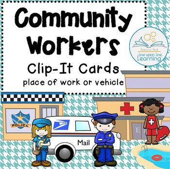 Community Workers Clip-It Cards and Digital Task Cards
