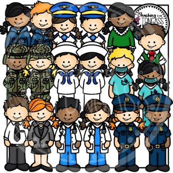 Community Helpers Clipart Bundle 2