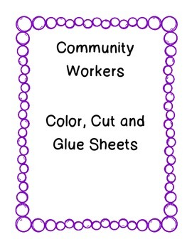 Community Workers-Color, Cut and Glue Book