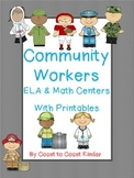 Community Helpers ELA & Math Centers