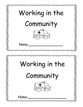 Community Workers Little Book (Word and Pictures)