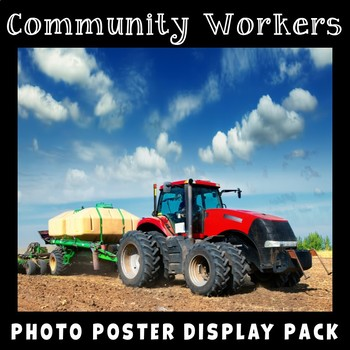 Community Helpers Posters | Real Photo Vocabulary | Bulletin Board or Display