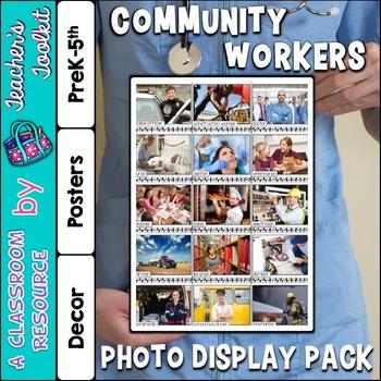 Community Workers Photo Poster Display Pack {UK Teaching R